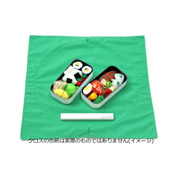 お弁当袋になっちゃう!!ランチクロス ファッション猫レッドソリッドブルー Lサイズ|safety-toilet|06
