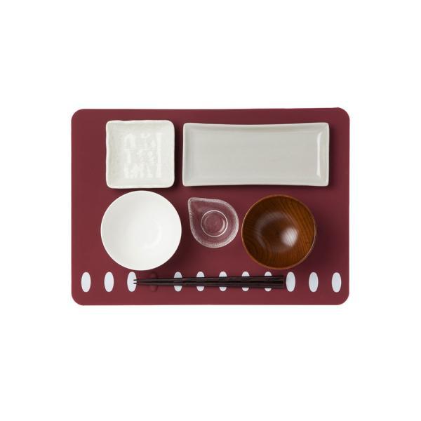 箸置きランチョンマット 2枚セット シリコン製で、お手入れラクラク。食洗機で洗え畳んでもシワになりません。|safety-toilet|02