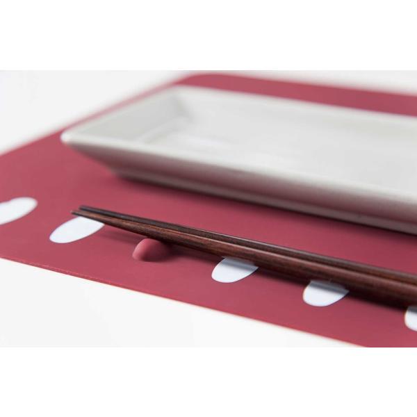箸置きランチョンマット 2枚セット シリコン製で、お手入れラクラク。食洗機で洗え畳んでもシワになりません。|safety-toilet|05