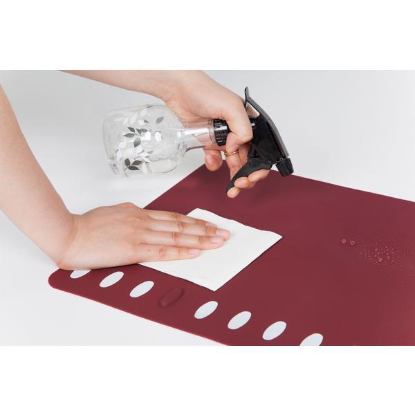 箸置きランチョンマット 2枚セット シリコン製で、お手入れラクラク。食洗機で洗え畳んでもシワになりません。|safety-toilet|06