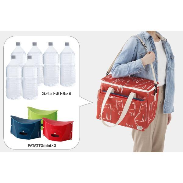 クーラーバッグ パタットミニ収納 保温保冷どちらにも使える! アウトドアやピクニックに|safety-toilet|06