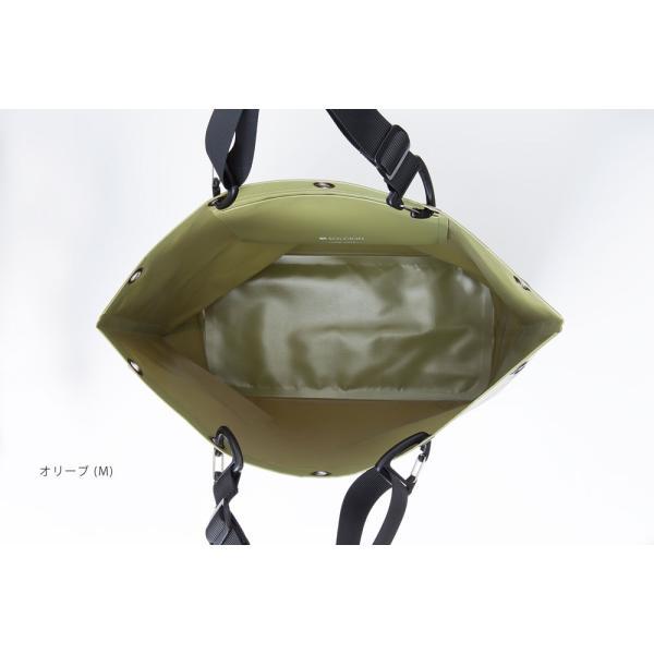 防水素材の、カラビナ付きレジャーバッグ camp tote キャンプトートMサイズ|safety-toilet|08