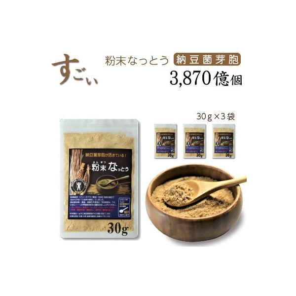 こなの納豆!【粉末 なっとう】 30g×3袋・・・なめらかな粉納豆です。・・・