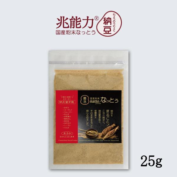 こなの納豆!【国産 粉末なっとう】 お試しサイズ25g  なめらかな粉納豆!