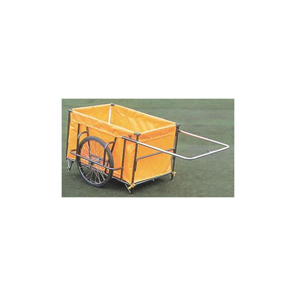 スチール製折りたたみ式リヤカー(防災 避難生活 災害用品 災害援助 救出 搬送)