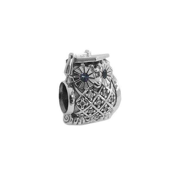 PANDORA パンドラ チャーム GRADUATE OWL 791502NSB AZUL