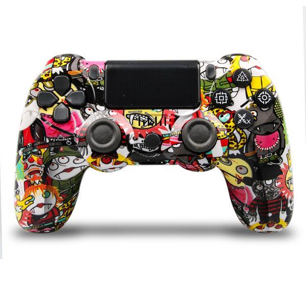 PS4 ワイヤレス コントローラー プレステ 4  Playstation 4 互換品 PS4 Pro 対応 無線 加速度 振動 重力感応 6軸機能 高耐久ボタン PC接続可能|saixia9|05