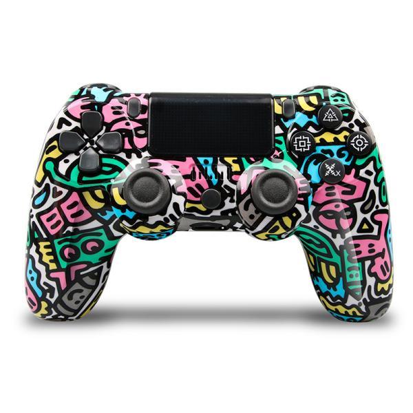 PS4 ワイヤレス コントローラー プレステ 4  Playstation 4 互換品 PS4 Pro 対応 無線 加速度 振動 重力感応 6軸機能 高耐久ボタン PC接続可能|saixia9|09