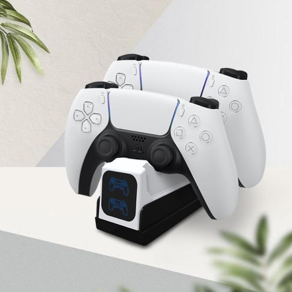 PS5スタンドPS5コントローラー充電器デュアル急速充電コントローラー2台充電LED指示ランプ付き