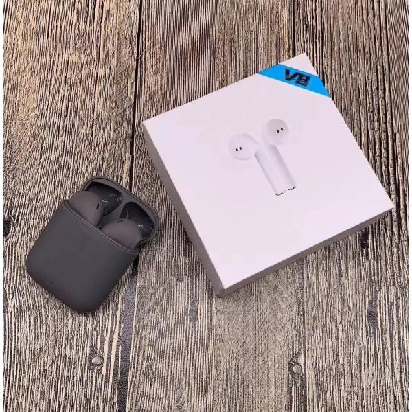 ブルートゥースイヤホン ワイヤレス AirPodsタイプ Bluetooth 5.0 iPhone Android対応 高音質 片耳 両耳通話 Hi Siri 対応 タッチ操作 超高音質|saixia9|24
