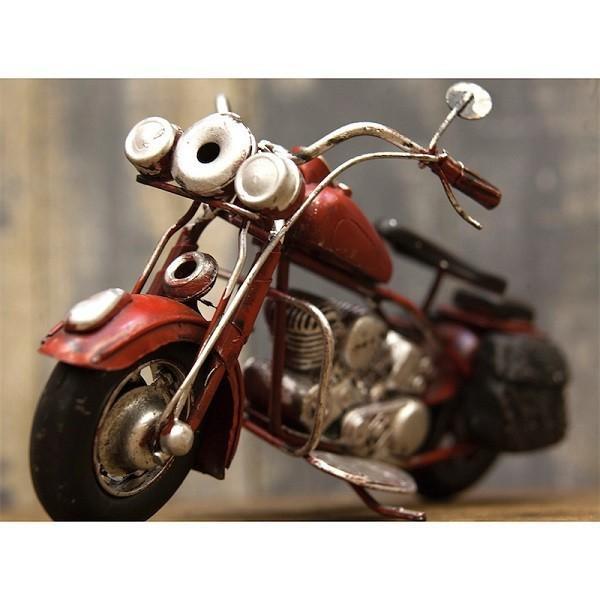 ヴィンテージカー ブリキおもちゃ バイク ハーレー 人気 オブジェ 模型  世田谷ベース ガレージグッズ/Old Bike(RED)|sakae-daikyo|04