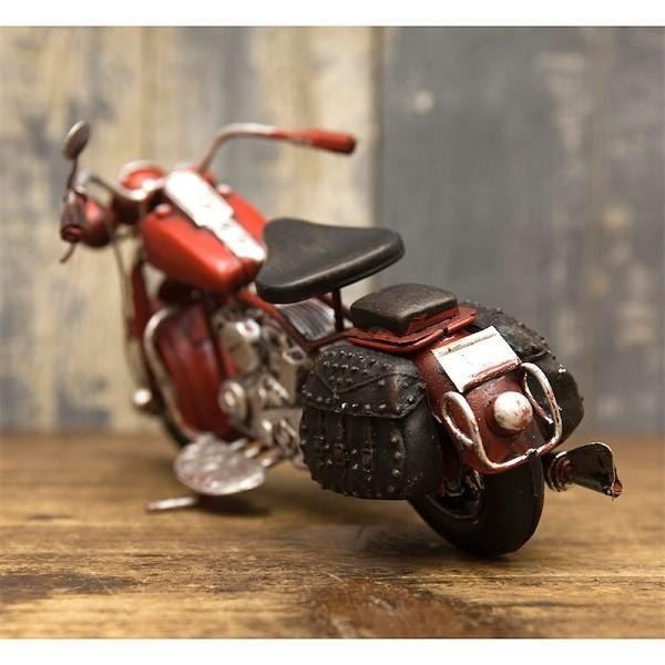 ヴィンテージカー ブリキおもちゃ バイク ハーレー 人気 オブジェ 模型  世田谷ベース ガレージグッズ/Old Bike(RED)|sakae-daikyo|05