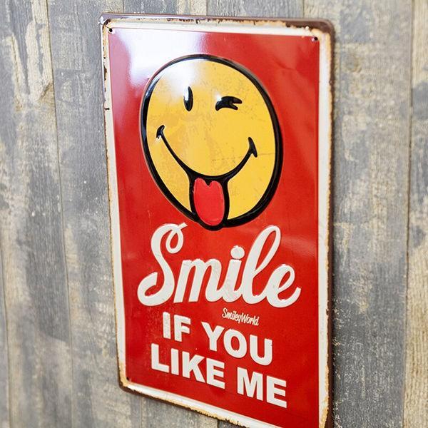 ブリキ看板 アンティーク スマイル スマイリー SMILE|sakae-daikyo|02