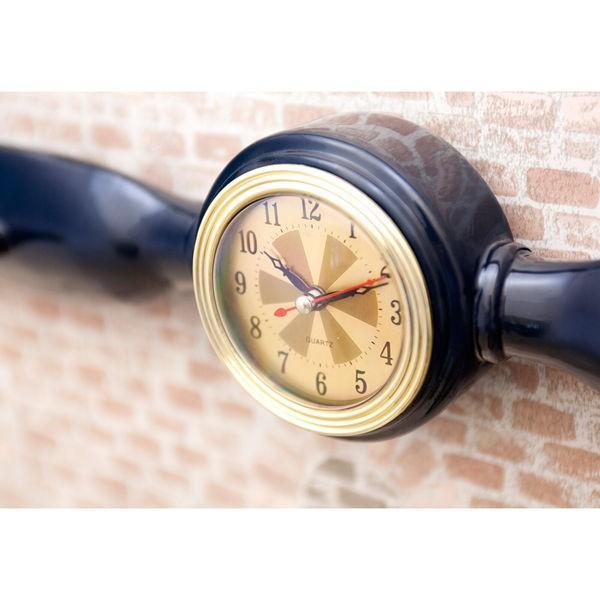 掛時計 掛け時計 アンティーク ハンガーラック 壁付け プロペラ プロペラ時計 飛行機|sakae-daikyo|04