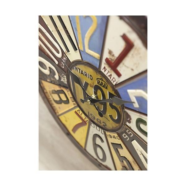 掛時計 掛け時計 大きい ビッグサイズ  アンティーク アメリカ雑貨 ビンテージクロック オールドアメリカン インテリア /ナンバープレートクロック|sakae-daikyo|04