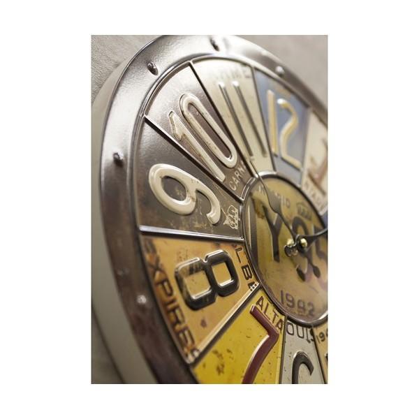 掛時計 掛け時計 大きい ビッグサイズ  アンティーク アメリカ雑貨 ビンテージクロック オールドアメリカン インテリア /ナンバープレートクロック|sakae-daikyo|05