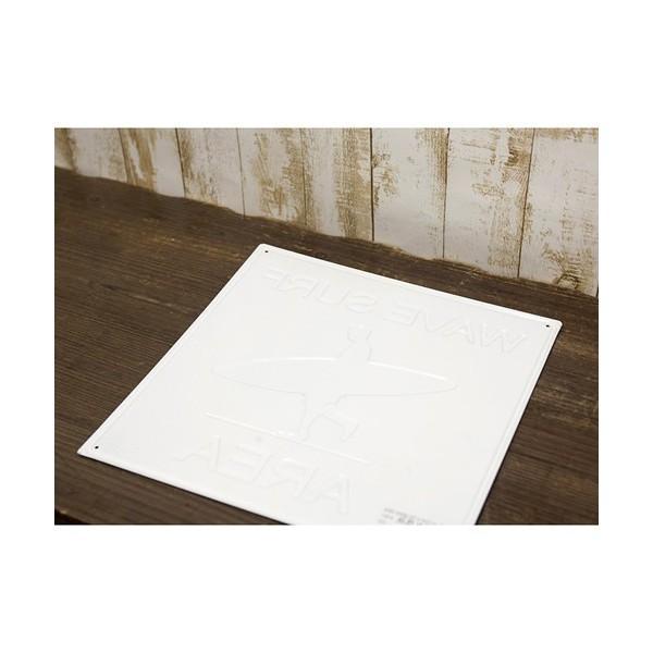 ブリキ看板 アンティーク エンボスプレート ウェーブサーフ アメリカ雑貨 サーフィン ハワイ [WAVE SURF AREA]|sakae-daikyo|06