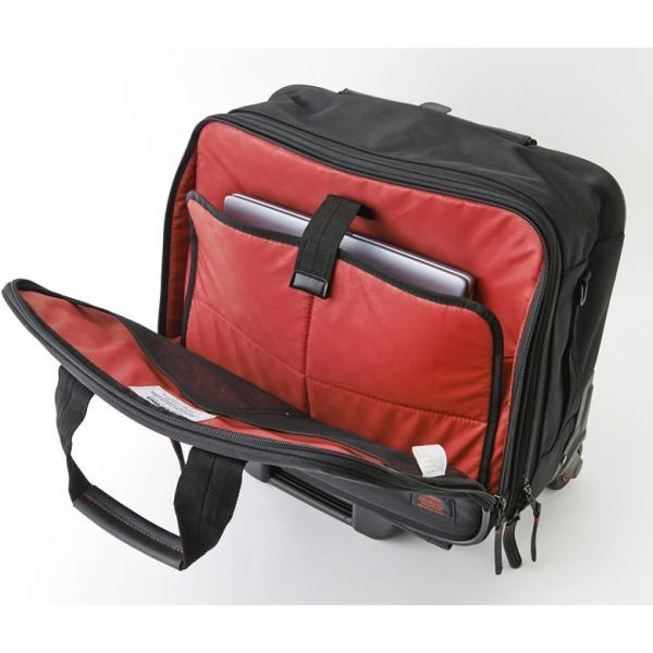 ビジネス キャリーバッグ 機内持ち込み メンズ 横 2輪 1泊 キャスター交換 静か S ビジネスキャリーバッグ ビジネスバッグ 出張 通勤 営業 外回り NEOPRO RED|sakaeshop|10