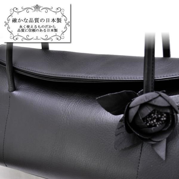 569c8e408068 ... フォーマルバッグ レディース 黒 レザー 本革 日本製 大きめ ブラックフォーマル 結婚式 冠婚 ...