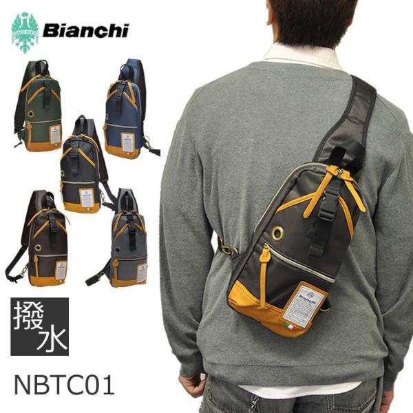 Bianchi ビアンキ ボディバッグ NBTCシリーズ メンズ レディース 男女兼用 ワンショルダー 斜めがけ 撥水 軽量 スマホ 貴重品 人気 ブランド|sakaeshop