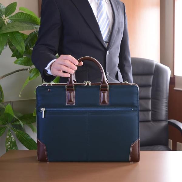 ビジネスバッグ メンズ 就活 メンズバッグ 就活カバン リクルートバッグ ビジネス 通勤 A4ファイル 就活バッグ 国産 日本製 Fiorire メンズ|sakaeshop|03