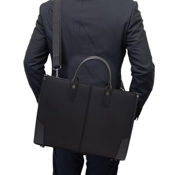ビジネスバッグ 軽量 メンズ 肩 かけ リクルートバッグ 就活 営業 面接 SAXON キャッシュレス ポイント還元|sakaeshop|02