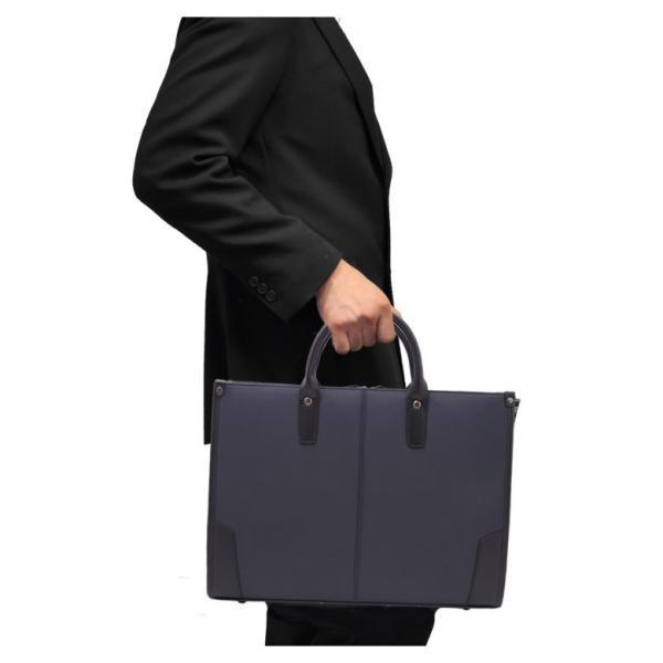 ビジネスバッグ 軽量 メンズ 肩 かけ リクルートバッグ 就活 営業 面接 SAXON キャッシュレス ポイント還元|sakaeshop|03