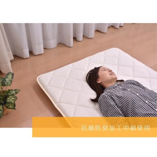 敷布団 敷き布団 シングル 抗菌防臭 三層敷き布団 シングル敷き布団 日本製|sakai-f|05