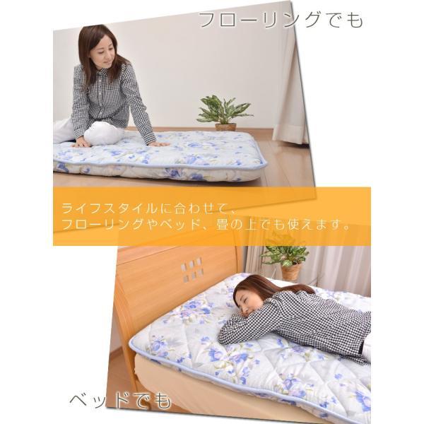 敷布団 敷き布団 シングル 抗菌防臭 三層敷き布団 シングル敷き布団 日本製|sakai-f|06