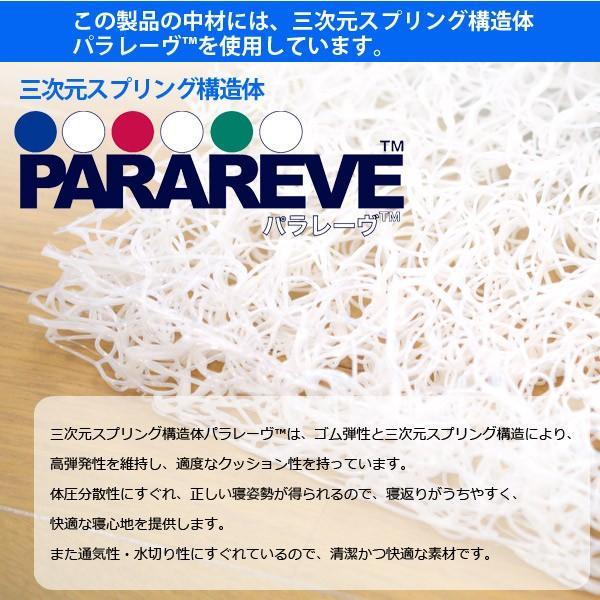 敷パッド パラレーヴTM使用 シングルサイズ 三次元スプリング構造体 スプリング構造DE体圧分散敷パット ブレスエアー|sakai-f|02