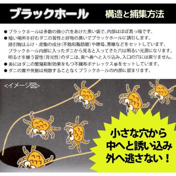 ダニ捕りパック ブラックホール(1袋2枚入)防ダニ シート 防虫 ダニ対策 ダニ取り sakai-f 02