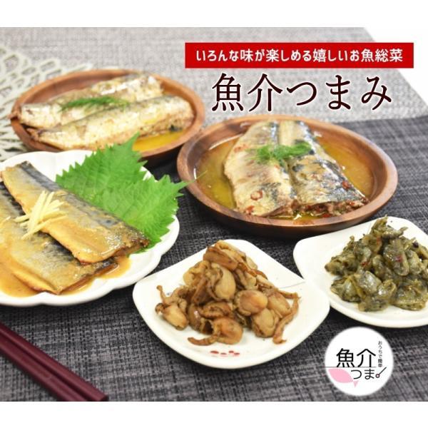 お歳暮 ギフト 惣菜 厳選 魚介おつまみセット 5種 おつまみ  父の日 母の日 敬老の日 お中元 贈物 魚介 イワシ さば アサリ ほたて|sakanaya-ebisu