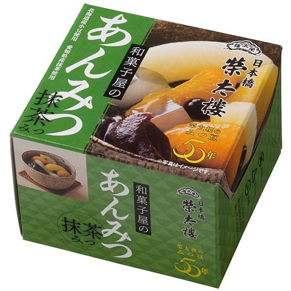 *榮太樓總本鋪  和菓子屋のあんみつ 抹茶みつ 6缶パックx4