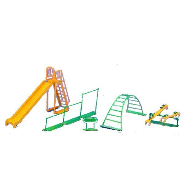 公園すべり台:アイコム塗装済み組み立てキット1/144・N(1/150)EP-12