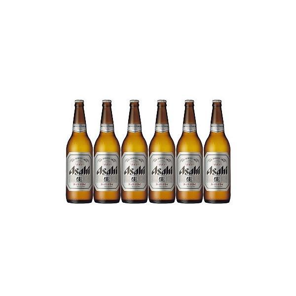 アサヒビール スーパードライ 大瓶 633ml ビール6本セット|sakaz