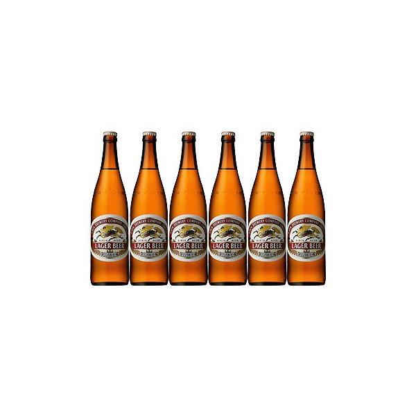 キリンビール ラガー 大瓶 633ml ビール6本セット|sakaz