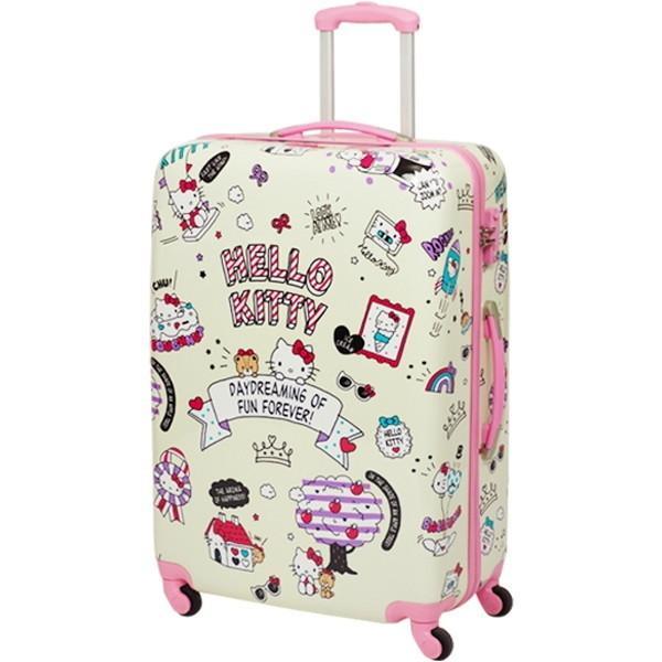 SIS HK-SUC-01-L1 ベージュ Hello Kitty(ハローキティ) 4輪スーツケース(Lサイズ・90L)