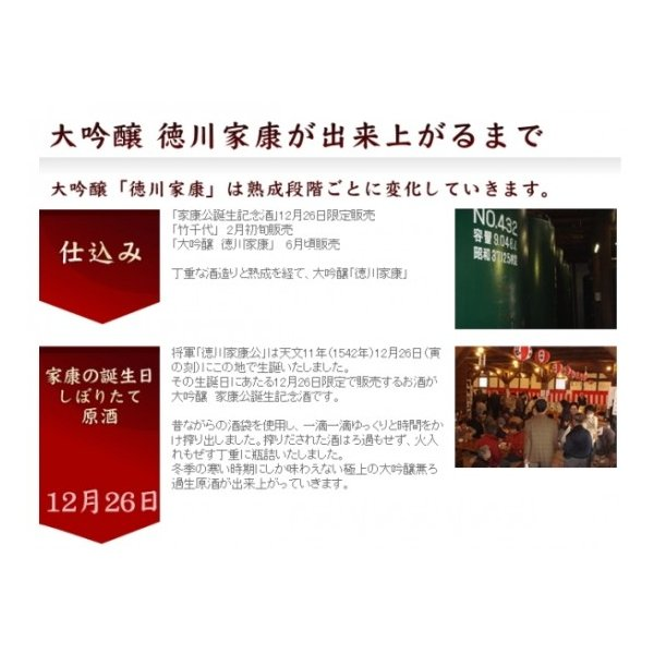 徳川家康(大吟醸酒) 720ml 丸石醸造 (日本酒)(愛知県産の地酒) sake 07