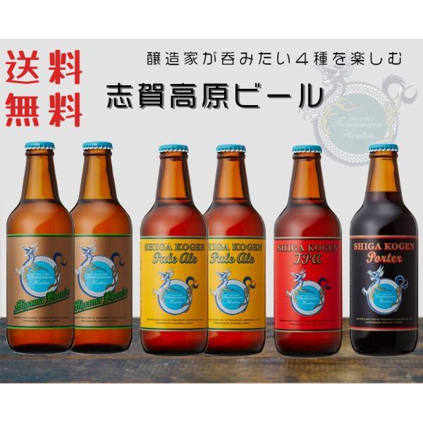 志賀高原ビール クラフトビール 飲み比べセット 地ビール 4種6本 セット 蔵元直送 長野県 玉村本店 御中元 お中元 ギフトにも|sakenakamura