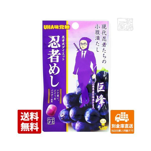 UHA味覚糖 忍者めし 巨峰 20g 10セット 送料無料 同梱不可 別倉庫直送