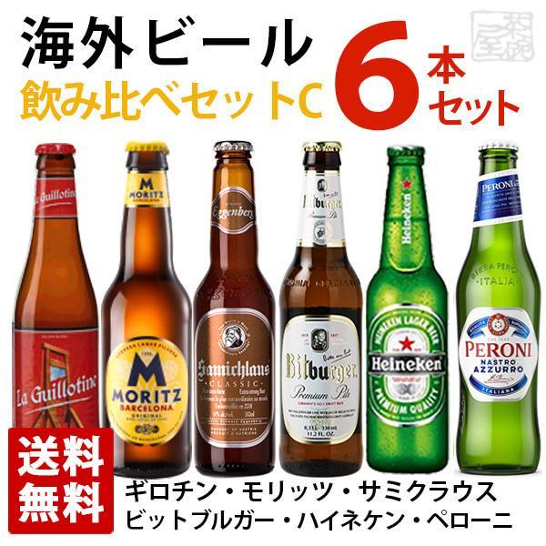 海外ビール飲み比べ6本セットC ヨーロッパ6ヵ国飲み比べセット 輸入ビール 送料無料 sakenochawanya