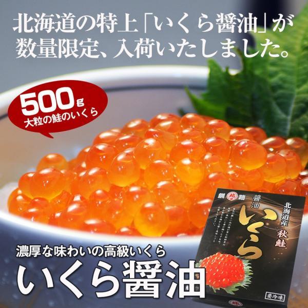 北海道産 いくら醤油漬(500g)/ 北海道 秋鮭 寿司 ギフト いくら醤油漬け sakenosakana