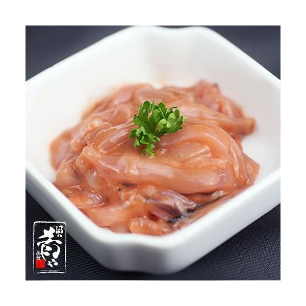 布目 手造りいか塩辛 (掛紙カップ/500g)|sakenosakana|02