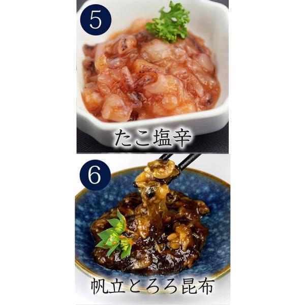 函館布目 北海道の特選珍味セット 彩(いろどり) / 瓶詰め 珍味6種類セット 送料無料 sakenosakana 06