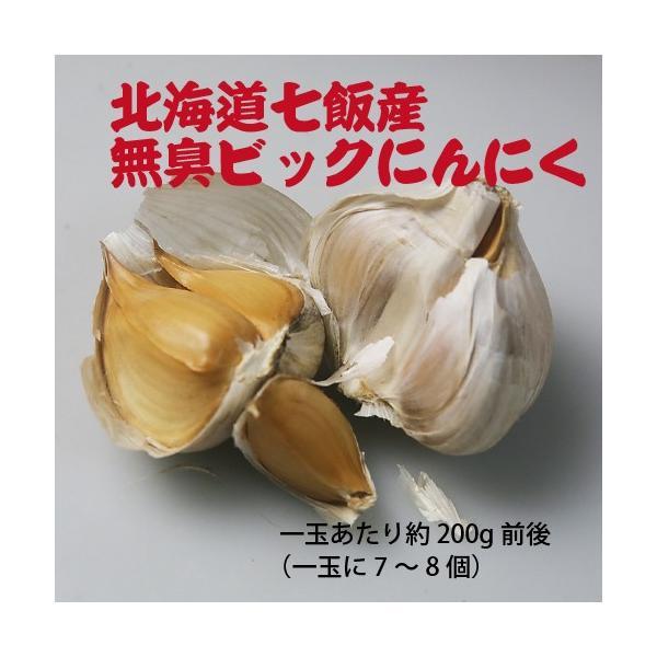 北海道七飯産 無臭ビックにんにく(約200g)/メール便送料無料|sakenosakana|05
