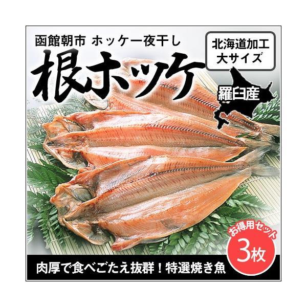 根ホッケ 羅臼産 大サイズ3枚セット(白タグ) / 北海道産 焼き魚 干物