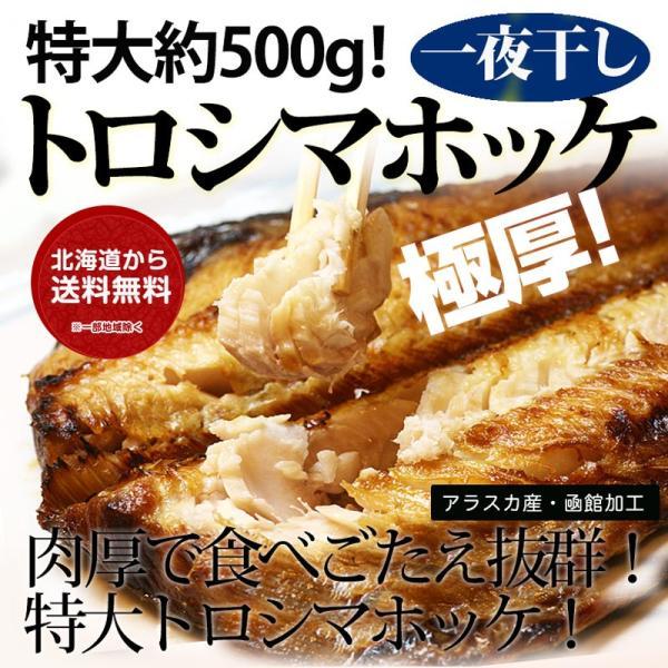 トロシマホッケ 大サイズ(約500g)×2枚セット / 干物 焼き魚 開き 函館朝市|sakenosakana
