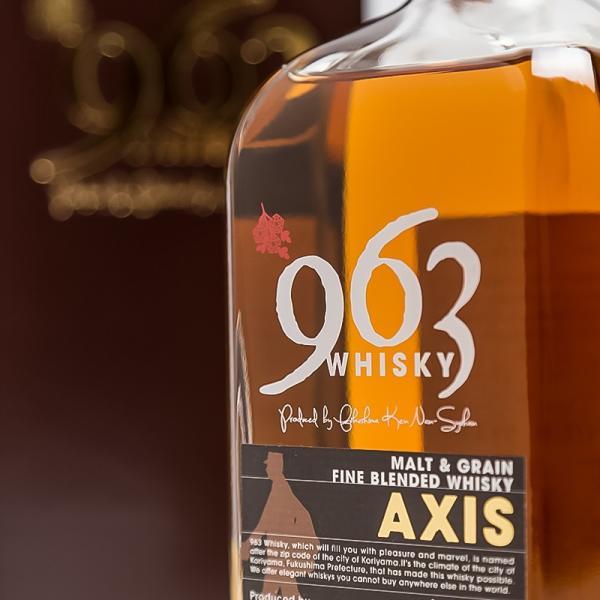 「963」AXIS アクシス ブレンデッドウイスキー 化粧箱付き  46° 700ml 笹の川酒造 ふくしまプライド。体感キャンペーン(お酒/飲料)|sakenosakuraya|02