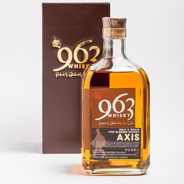 「963」AXIS アクシス ブレンデッドウイスキー 化粧箱付き  46° 700ml 笹の川酒造 ふくしまプライド。体感キャンペーン(お酒/飲料)|sakenosakuraya|04