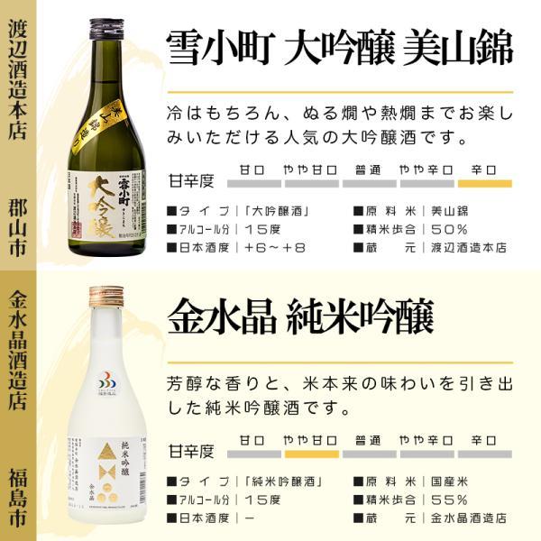 日本酒 ギフト 包装・のし対応無料 純米大吟醸 大吟醸入り 厳選飲み比べ2 福島 小瓶 300ml×5本 ふくしまプライド。体感キャンペーン (お酒/飲料)|sakenosakuraya|04